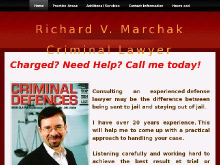 Marchak Richard (226-444-3910) - Website thumbnail - http://www.richardmarchakcriminallawyer.com