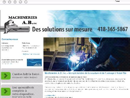 Machineries A B inc (Les) (418-365-5867) - Website thumbnail - http://machineriesab.ca/