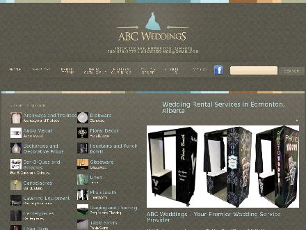 A B C Weddings (780-401-1917) - Onglet de site Web - http://www.abcweddings.com