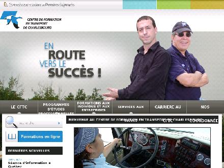 Centre de formation en transport deCharlesbourg (418-634-5580) - Website thumbnail - http://www.cftc.qc.ca