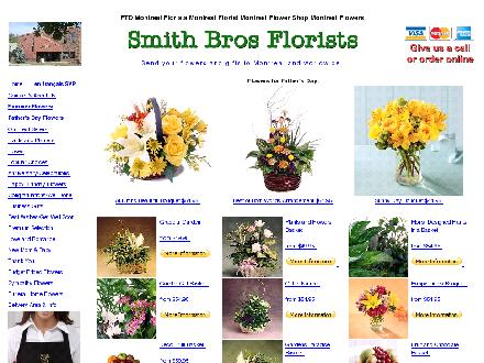 Smith Brothers Florists (450-876-0984) - Website thumbnail - http://www.smithbrosflorists.com