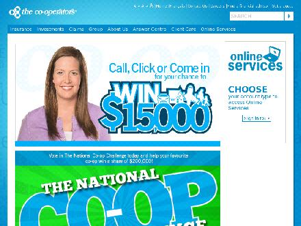 Co-operators Assurance et Services Financiers - Onglet de site Web - http://www.cooperators.ca