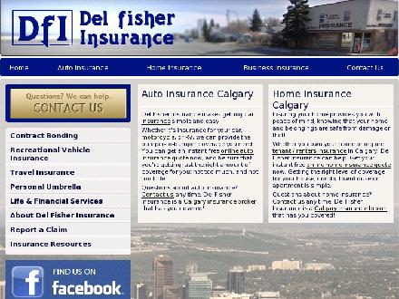 Del Fisher Insurance Inc (403-817-0109) - Onglet de site Web - http://www.delfisher.ca