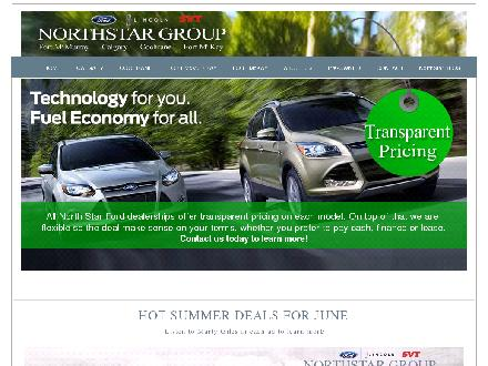Northstar Ford Group (403-727-0101) - Website thumbnail - http://www.northstarford.ca