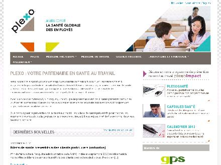 Clinique M&eacute;dicale Plexo (418-624-3224) - Onglet de site Web - http://www.plexo.ca