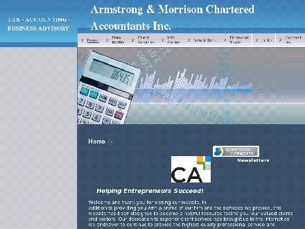 Armstrong &amp; Morrison Chartered Accountants Inc (902-865-7500) - Onglet de site Web - http://www.armstrongandmorrison.ca