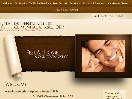 Uplands Dental Clinic (250-756-8451) - Website thumbnail - http://www.uplandsdental.com