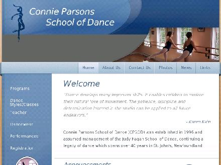 Connie Parsons School Of Dance Ltd (709-754-2290) - Website thumbnail - http://www.cpsod.com