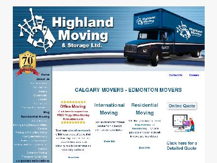 Highland Moving & Storage Ltd (780-453-6777) - Onglet de site Web - http://www.highlandmoving.com