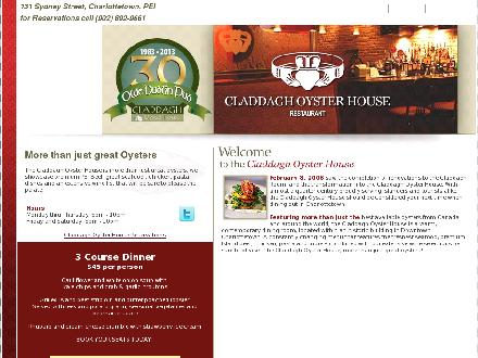 Claddagh Oyster House (1-877-862-1561) - Website thumbnail - http://www.claddaghoysterhouse.com