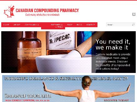 Canadian Compounding Pharmacy (416-239-3566) - Website thumbnail - http://www.compoundingpharmacy.pro