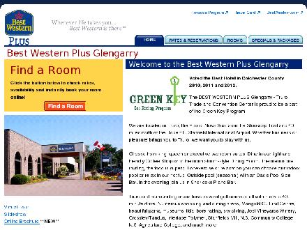 Best Western PLUS Glengarry (902-893-4311) - Website thumbnail - http://www.bwglengarry.com