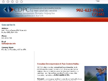 Canadian Decompression & Pain Centers (902-423-7246) - Onglet de site Web - http://www.cdpchalifax.ca