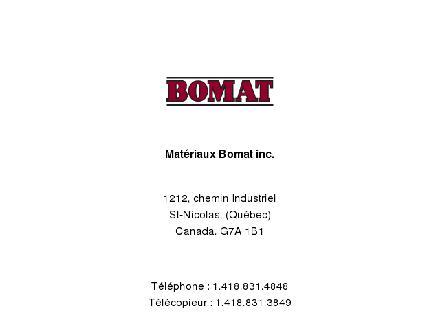 Bomat (418-831-4848) - Website thumbnail - http://www.materiauxbomat.com