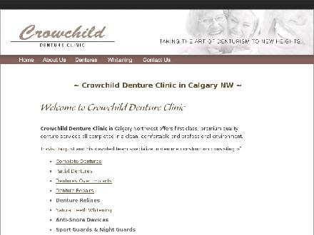Crowchild Denture Clinic (403-817-0930) - Onglet de site Web - http://www.crowchilddenture.com