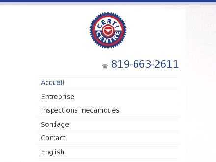 Certi-Centre (819-663-2611) - Onglet de site Web - http://www.certicentre.com
