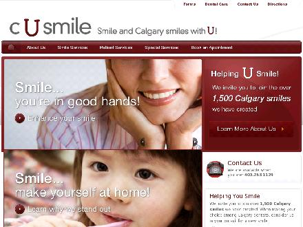 C U Smile Dental Care (403-727-0228) - Website thumbnail - http://www.cusmile.ca