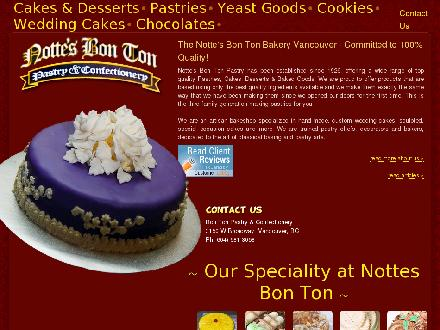 Bon Ton Pastry &amp; Confectionery Ltd (604-681-3058) - Website thumbnail - http://www.nottesbontonpastry.com