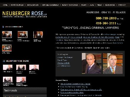 Neuberger Rose LLP (416-364-3111) - Website thumbnail - http://www.nrlawyers.com