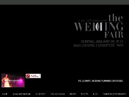 The Wedding Fair (403-229-3328) - Onglet de site Web - http://www.theweddingfair.ca