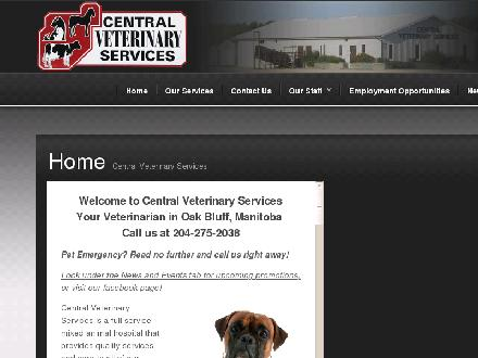 Central Veterinary Services (204-809-1057) - Onglet de site Web - http://www.centralvet.ca