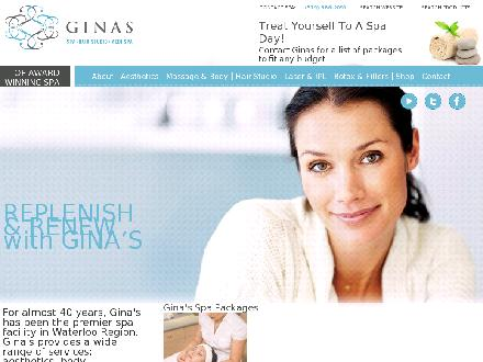 Ginas Spa Hair Studio Medispa (519-886-2090) - Website thumbnail - http://www.ginaspa.com