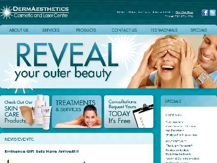 DermAesthetics Cosmetic And Laser Centre (780-476-4876) - Onglet de site Web - http://www.dermlaser.ca