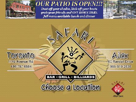 Safari Bar Grill Billiards Patio (416-787-6584) - Website thumbnail - http://www.safaribarandgrill.com