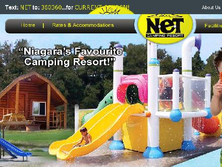 N E T Camping Resort (905-892-3737) - Onglet de site Web - http://www.netcampingresort.com