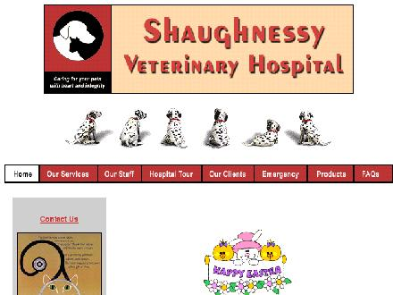 Shaughnessy Veterinary Hospital Ltd (604-945-4949) - Onglet de site Web - http://www.coolvet.com