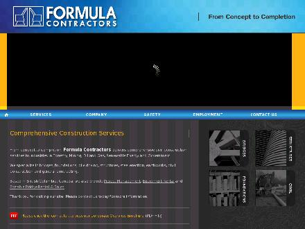 Formula Contractors BC Ltd (250-561-2933) - Website thumbnail - http://www.formulacontractors.com