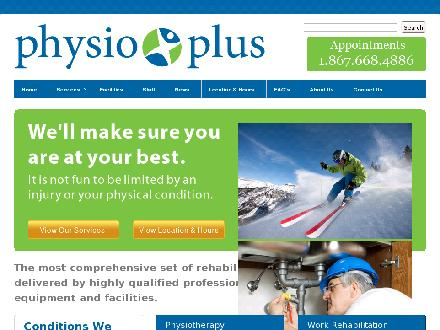 Physio Plus (867-668-4886) - Onglet de site Web - http://www.physiopluswhitehorse.com