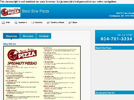 Best Bite Pizza Ltd (604-701-3334) - Website thumbnail - http://bestbitepizza.com