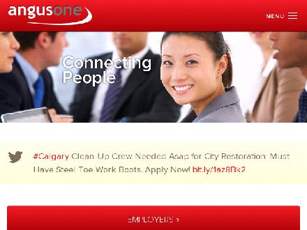 Angus One Professional Recruitment (403-265-6686) - Onglet de site Web - http://www.angusone.com