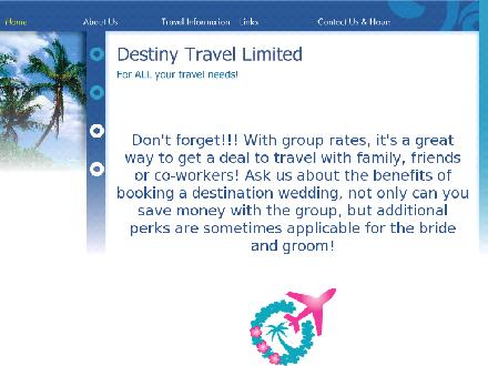 Destiny Travel Ltd (902-883-3304) - Onglet de site Web - http://www.destinytravelltd.com