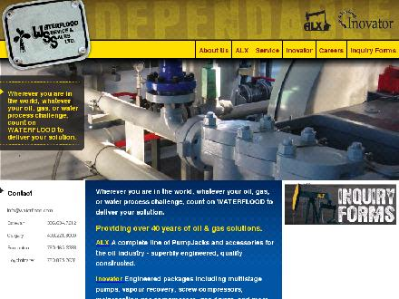 Waterflood Service & Sales Ltd (306-634-7212) - Onglet de site Web - http://www.waterflood.com
