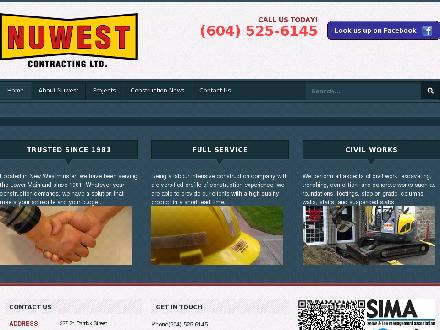 Nuwest Contracting Ltd (604-525-6145) - Website thumbnail - http://www.nuwestcontracting.com