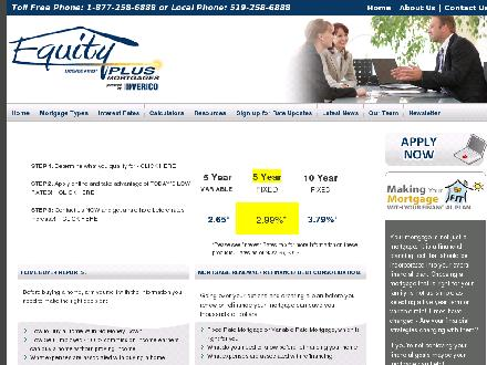 Equity Plus (519-258-6888) - Onglet de site Web - http://www.mortgageteam.ca