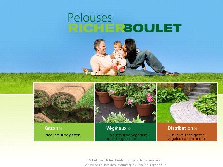 Pelouses Richer Boulet Inc (418-687-1616) - Onglet de site Web - http://richerboulet.com
