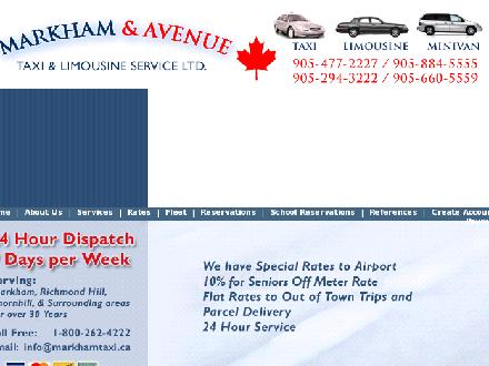 Markham Taxi &amp; Limousine (289-806-1083) - Website thumbnail - http://www.taxilimo.ca