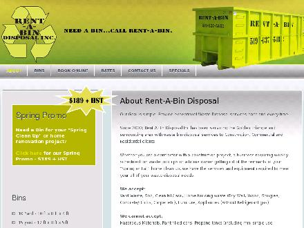 Rent A Bin Disposal Inc (226-780-8634) - Website thumbnail - http://www.rentabindisposal.com