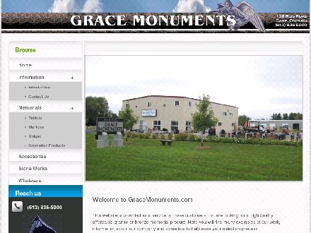 Grace Monuments (613-836-5000) - Website thumbnail - http://www.gracemonuments.com