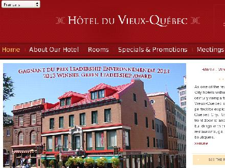 Hotel du Vieux Qu&eacute;bec (1-800-361-7787) - Onglet de site Web - http://www.hvq.com