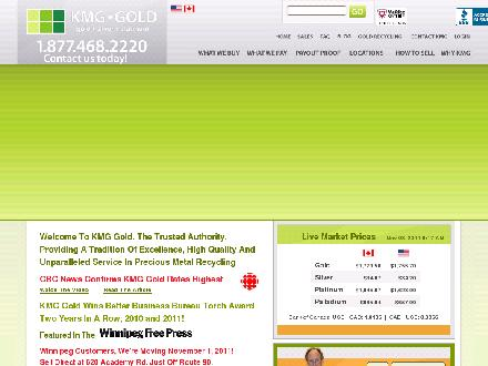 KMG Gold Recycling (204-452-4653) - Website thumbnail - http://www.kmggold.com