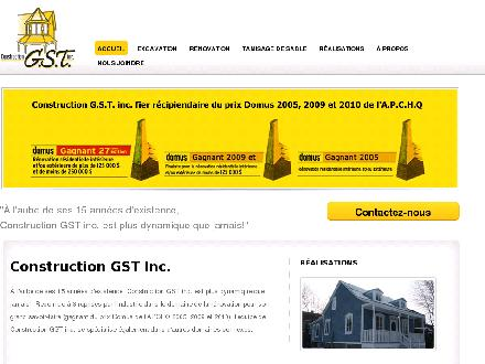Gst Construction (514-353-1110) - Onglet de site Web - http://www.constructiongst.com