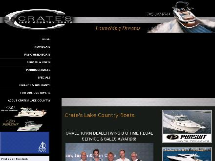 Crate's Lake Country Boats (705-327-9741) - Website thumbnail - http://www.crateslakecountryboats.com