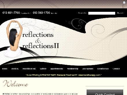 Reflections 11 Salon & Spa (613-831-7766) - Onglet de site Web - http://www.ReflectionsOttawa.com