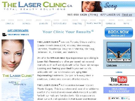 The Laser Clinic.ca - Total Beauty Solutions (905-850-7546) - Onglet de site Web - http://www.thelaserclinic.ca