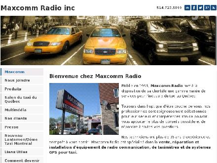 Maxcomm Radio Communication (514-727-5899) - Website thumbnail - http://www.maxcommradio.com