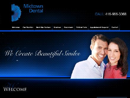 Midtown Dental Centre (416-966-3368) - Onglet de site Web - http://www.MidtownDental.ca